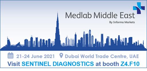 Sentinel Diagnostics partecipa a MEDLAB MIDDLE EAST –  Stand Z4. F10