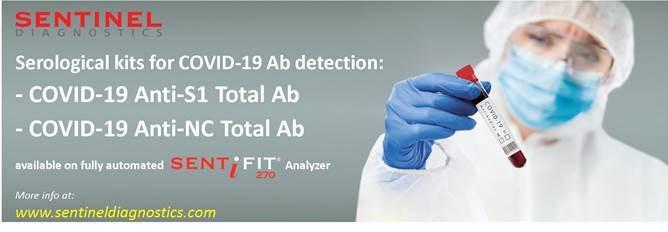Sentinel Diagnostics annuncia il lancio dei kit sierologici quantitativi COVID-19